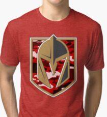 0df298b77 VEGAS GOLDEN KNIGHTS RED CAMO LOGO Tri-blend T-Shirt