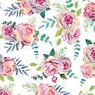 Pastel roses - romantic roses pattern by vasylissa