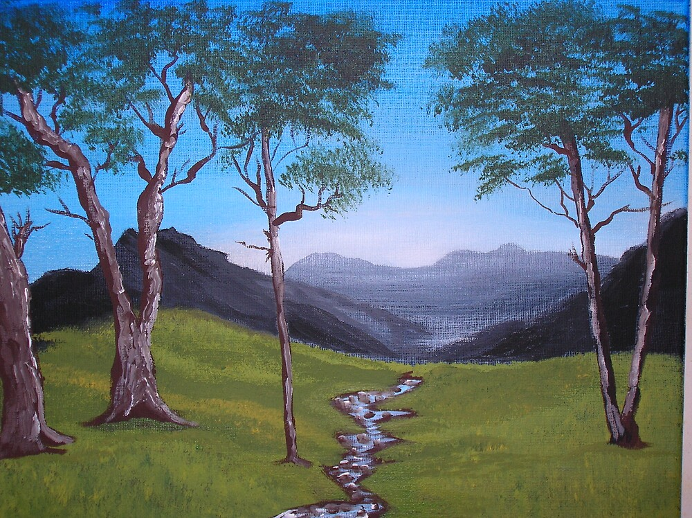 mountain stream by Marie Dulny
