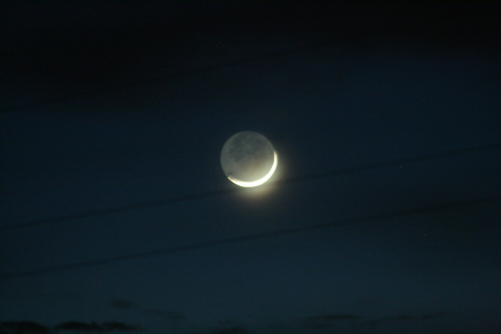The moon on 5-25-09 by daisymw1