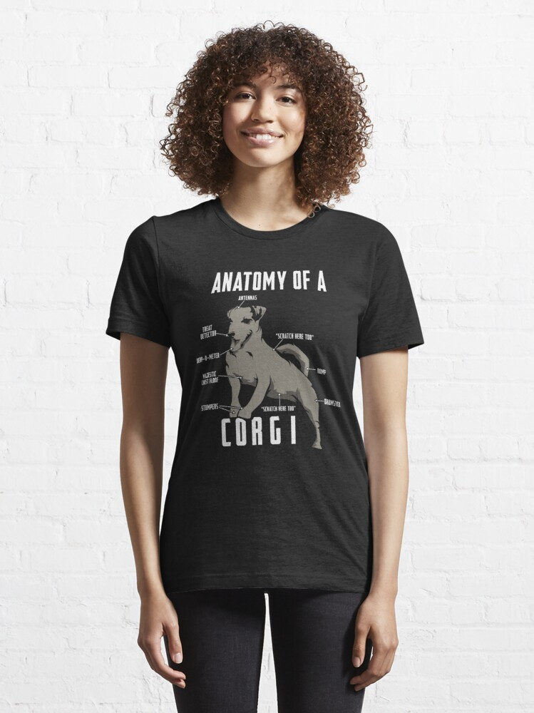 Alternate view of Anatomy of a Corgi - Funny Dog Lover Gift Essential T-Shirt
