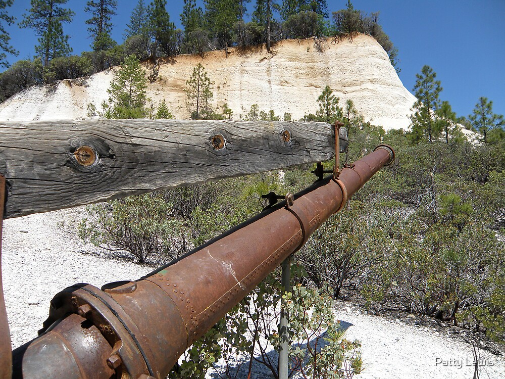 Washed Away ~ Hydraulic Mining by Patty Lewis
