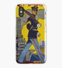 Vintage US Marines, Service on Land and Sea iPhone Case