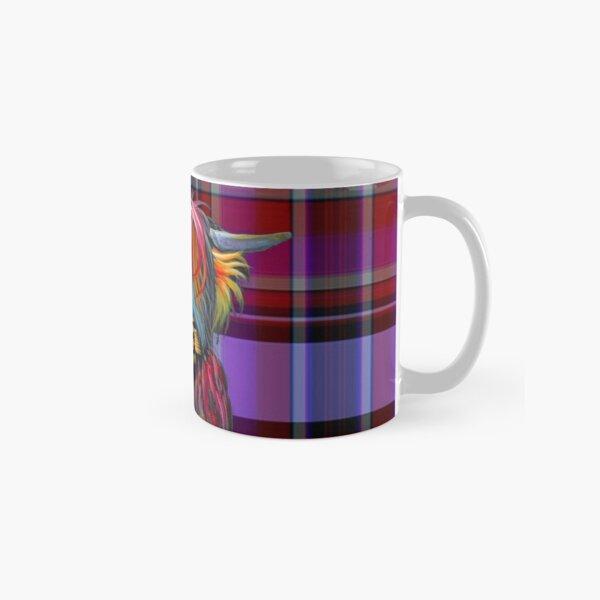 SCoTTiSH HiGHLaND CoW ' TaRTaN BRaVeHeaRT ' by SHiRLeY MacARTHuR Classic Mug