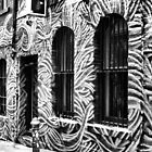 Barred Windows in Hosier Lane Melbourne by TeAnne