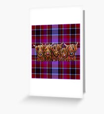 "SCoTTiSH HiGHLaND CoW ""The Hairy BuNch of CooS TaRtan"" von SHiRLeY MacARTHuR Grußkarte"