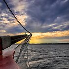 Sunset off the Bow by Kathy Weaver