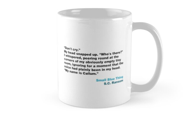UKYA quote mug: SC Ransom, Small Blue Thing by wehavecrisps