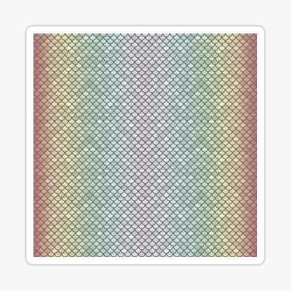 New Rainbow Mermaid Scales Sticker