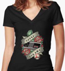 Gamer For Life Women's Fitted V-Neck T-Shirt