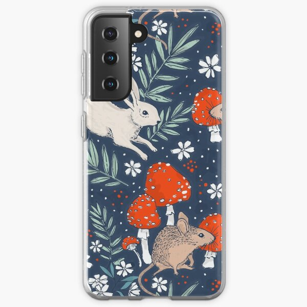forêt d'hiver gambader Coque souple Samsung Galaxy