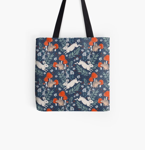 winter forest frolic All Over Print Tote Bag
