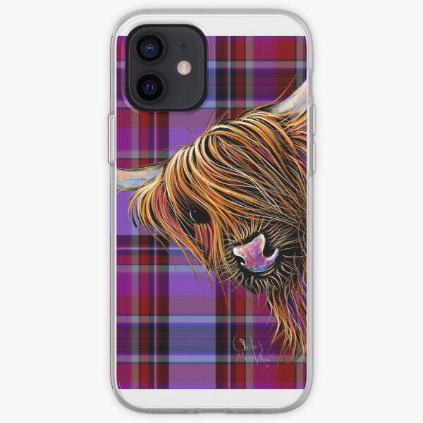 SCoTTiSH HiGHLaND CoW ' TaRTaN NooDLeS P ' by SHiRLeY MacARTHuR iPhone Soft Case