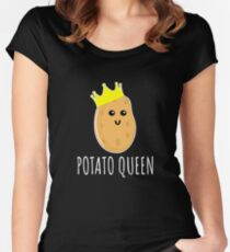 Potato Queen - Funny Potato Gift Women's Fitted Scoop T-Shirt
