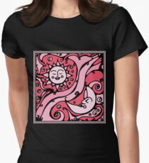 Pink Galaxy Womens Fitted T-Shirt