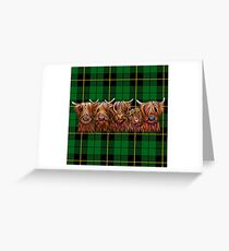 SCoTTiSH HiGhLaND CoW 'TurtaN - HaIrY BuNCH of CooS G' von SHiRLeY MacARTHuR Grußkarte
