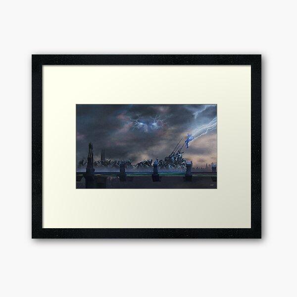 Bifrost Battle Painting Framed Art Print