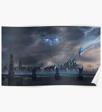Bifrost Battle Painting Poster