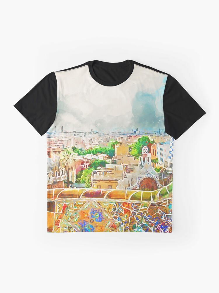 Alternative Ansicht von Barcelona, ​​Parc Güell Grafik T-Shirt