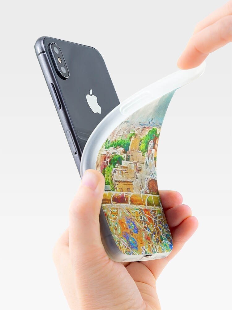 Alternative Ansicht von Barcelona, ​​Parc Güell iPhone-Hülle & Cover