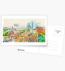 Barcelona, Parc Guell Postcards