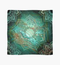 Wunderschönes Mandala - Türkisfarbene Kupfer- und Silbertöne Tuch