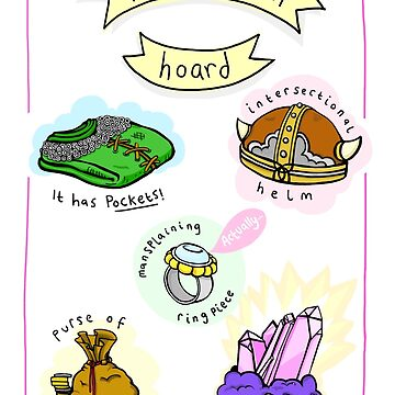 Feminist Goblin Hoard (Cards & Prints) by lauriepink