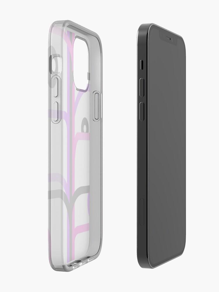 Rayures et cercles - rose et violet   Coque iPhone