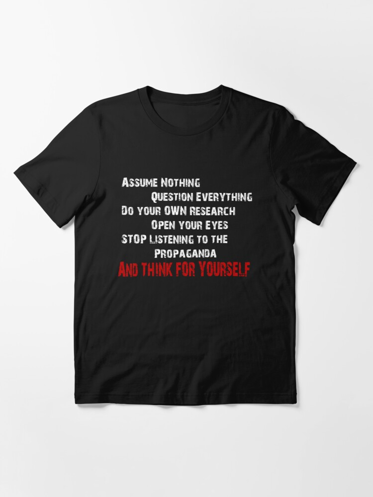 Alternate view of Think for yourself! Essential T-Shirt