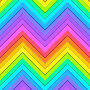 Magically Delicious Rainbow Chevron by Dayinara