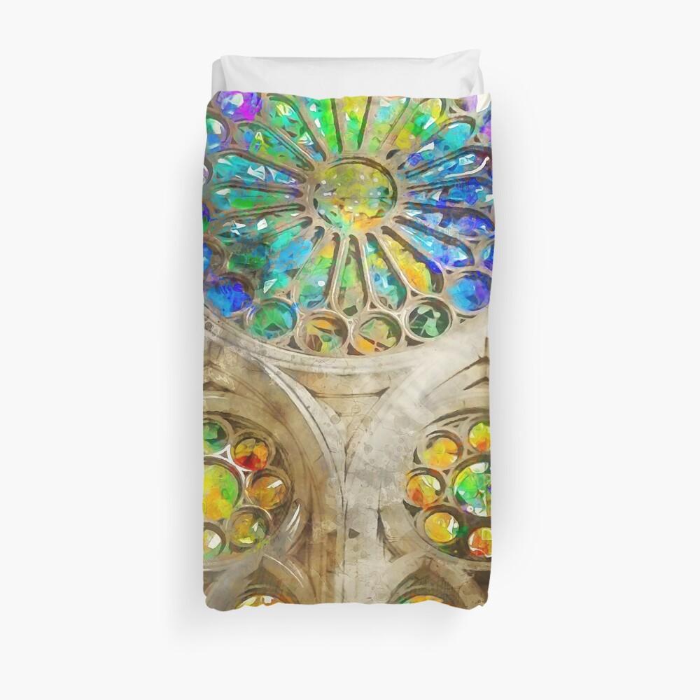 Barcelona, Sagrada Familia Duvet Cover