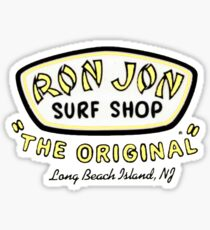 ron jon the original yellow Sticker