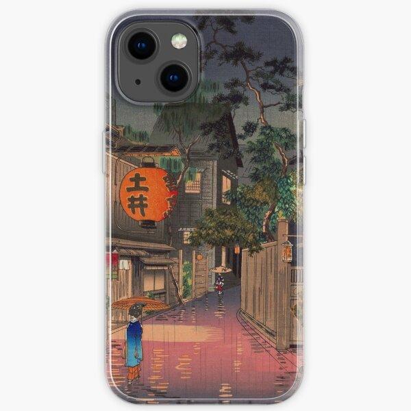 Night Street Rain iPhone Soft Case