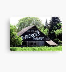 FOR YOUR LIVER  Dr. PIERCE'S  PLEASANT  PELLETS   Canvas Print