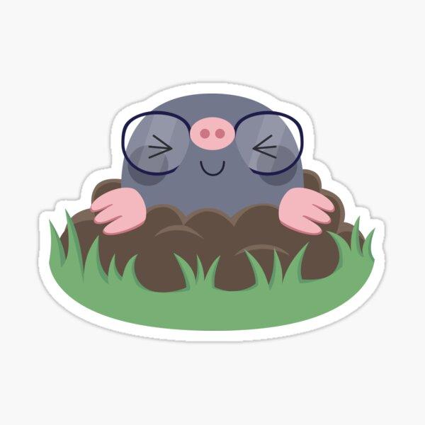 Cute little moles Sticker