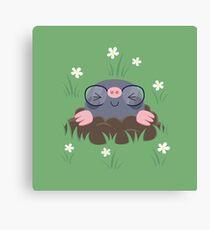 Cute little moles Canvas Print