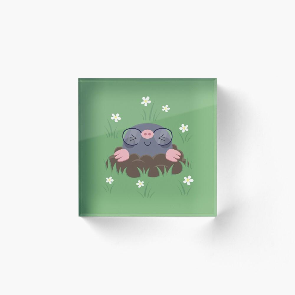 Cute little moles Acrylic Block