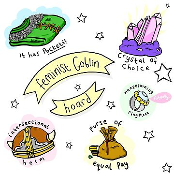 The Feminist Goblin Hoard (repeating pattern) by lauriepink