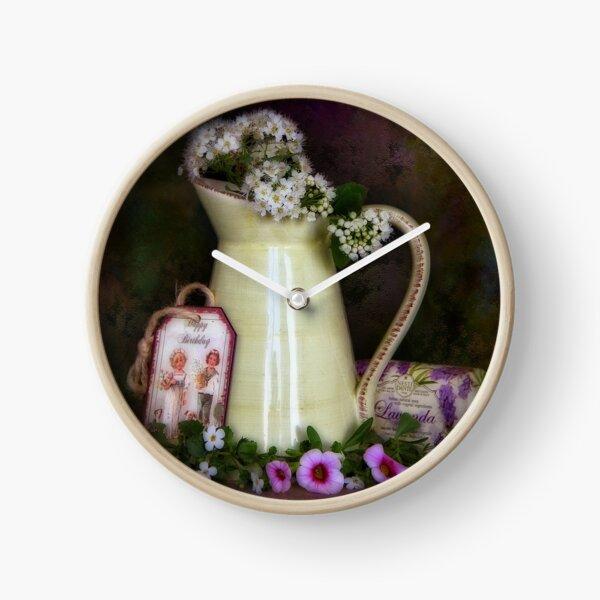 Lavendel Clock