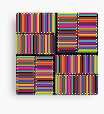 Multicolored background pattern with colored pencils Canvas Print