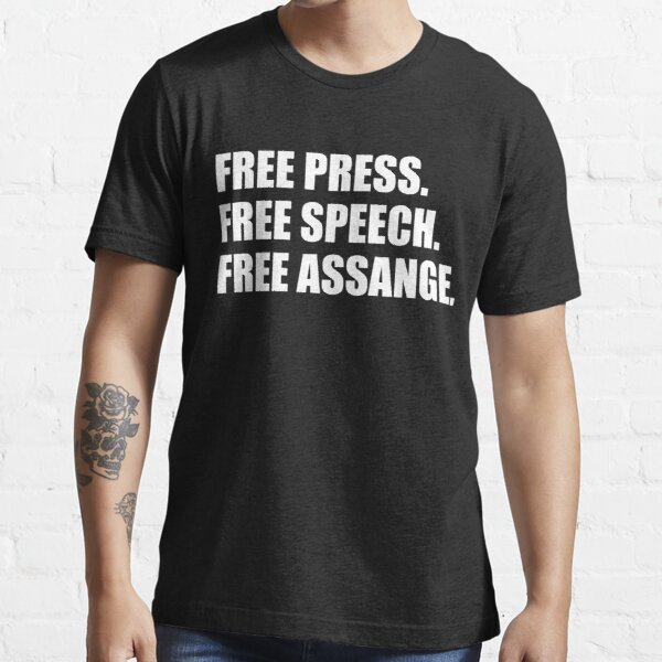 Free Press, Free Speech, Free Julian Assange  Essential T-Shirt