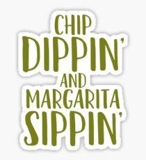 Chip Dippin Margarita Sippin Art Drinks Cocktail Food Sticker