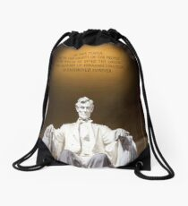 ABRAHAM LINCOLN Pop Art Drawstring Bag