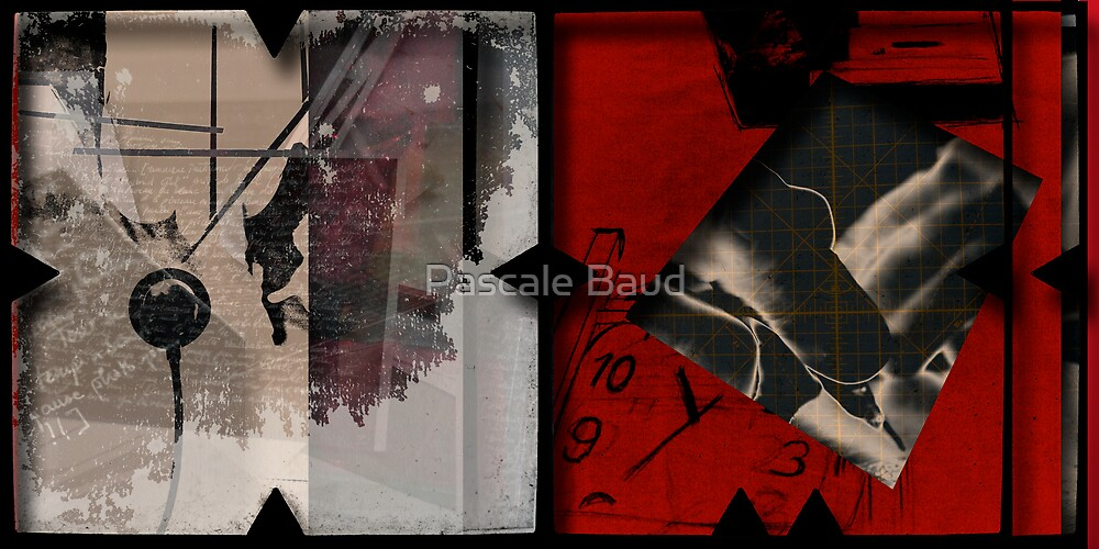Open work about Open red (12) by Pascale Baud