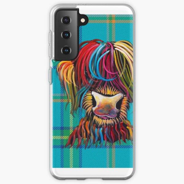 SCoTTiSH HiGHLaND CoW ' TaRTaN NeLLY B ' by SHiRLeY MacARTHuR Samsung Galaxy Soft Case