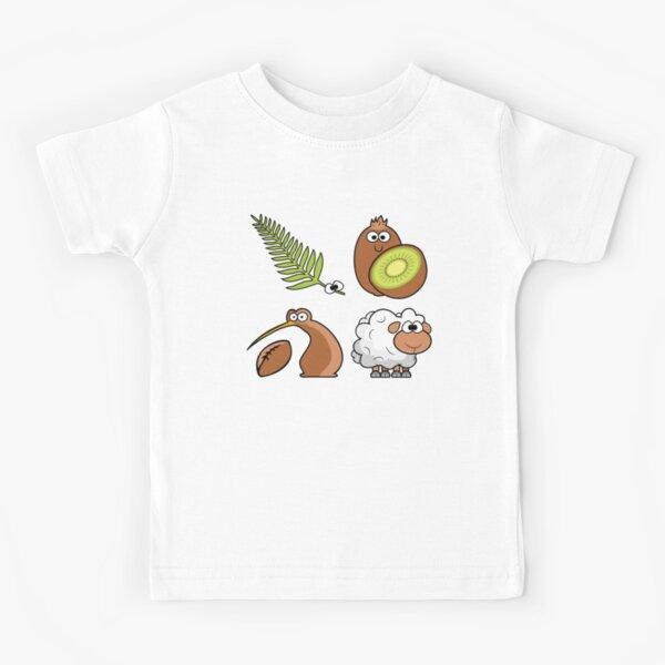 New Zealand Cartoon Figures Kids T-Shirt