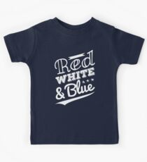 Red White and Blue Kids Tee
