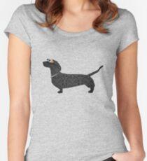 steampunk dachshund Women's Fitted Scoop T-Shirt