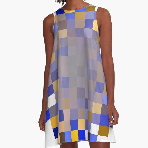 #Structure, #framework, #composition, #frame, #texture, #decoration, #motif, #marking A-Line Dress