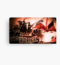 Football Fans and Pyro Canvas Print